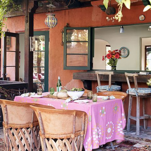 southwestern outdoor dining style