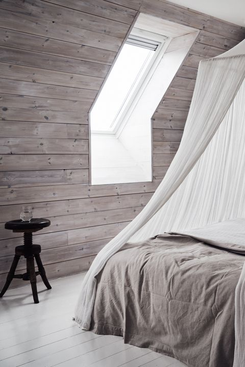 Mosquito net, Canopy bed, White, Bed, Furniture, Room, Personal care, Bedroom, Interior design, Black-and-white,
