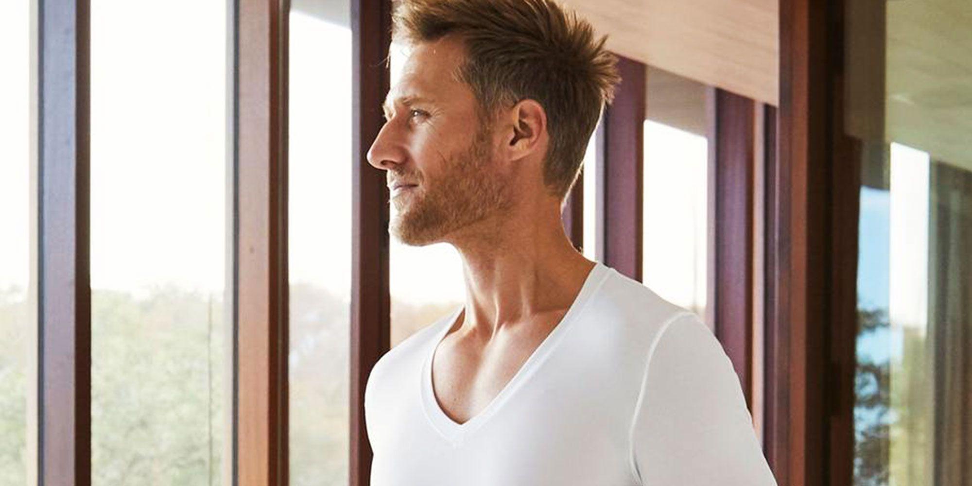 Compression Shirt V NECK MEN/'S BRAND NEW STYLE 3 PACK TOP QUALITY MADE USA