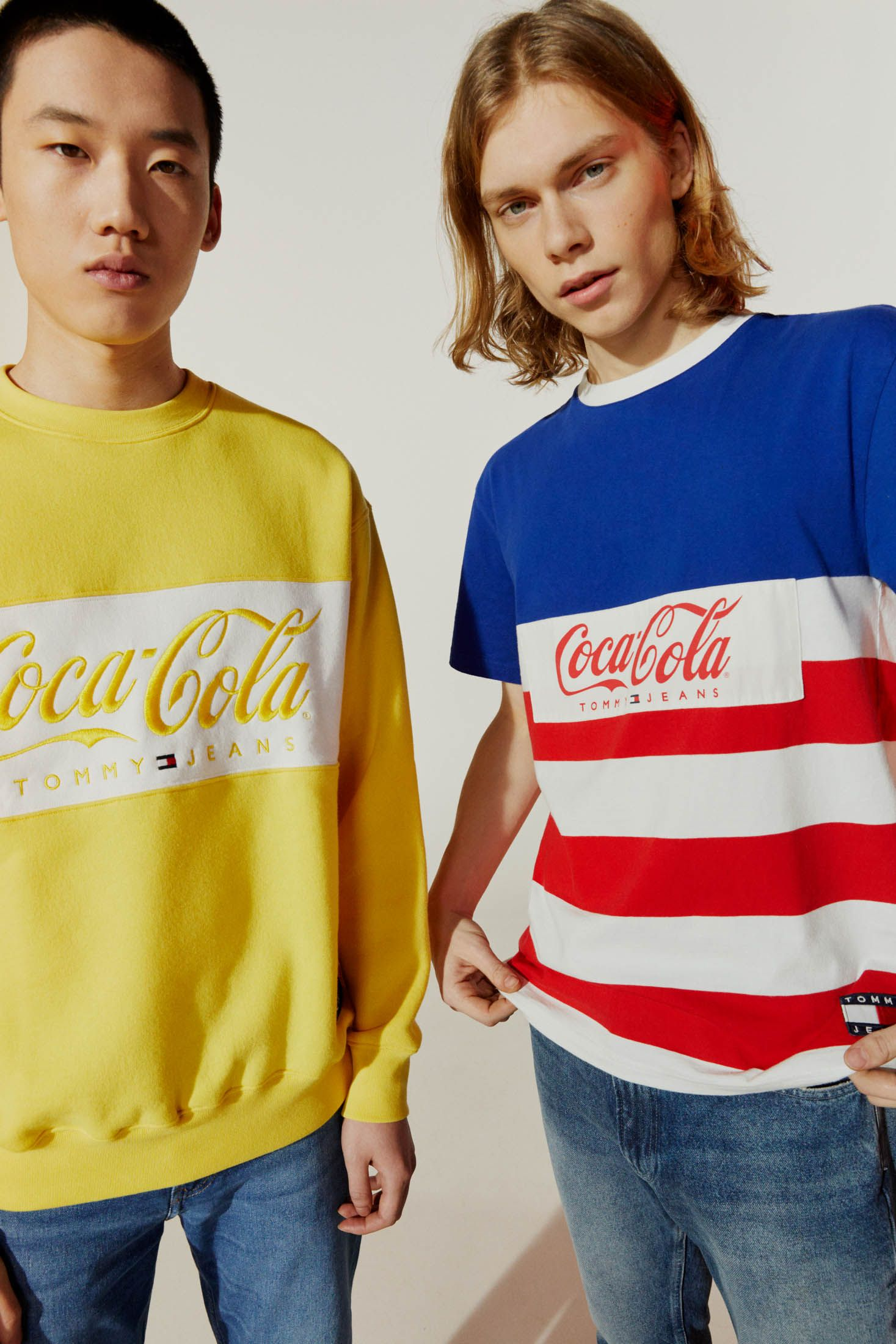 Tommy Hilfiger Coca Cola Sweatshirt Cool Throwback Old