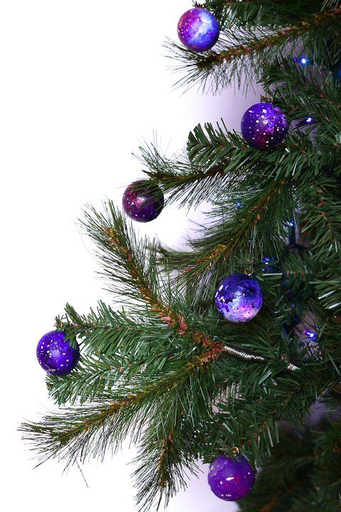 diy space ornaments - Purple Christmas Tree Ornaments