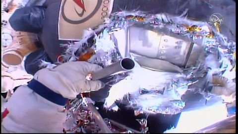 Watch Russian Cosmonauts Spacewalk to Find the Cause of a