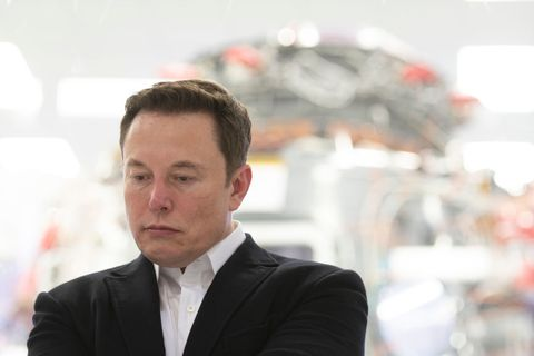 Elon Musk At SpaceX Headquarters