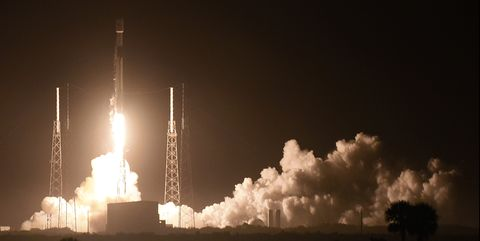 SpaceX launches communications satellite