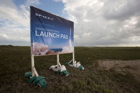 SpaceX launch pad south Texas
