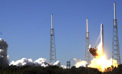 SpaceX's Falcon 9 rocket lifts off on De
