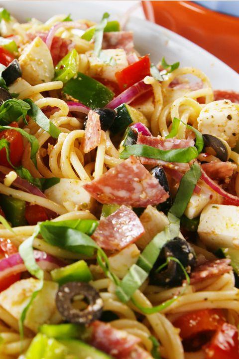 Spaghetti Salad Vertical