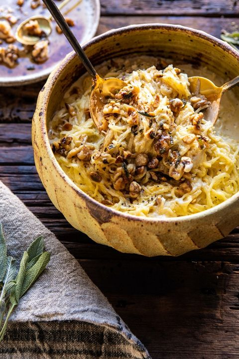 spaghetti squash recipes browned butter walnuts