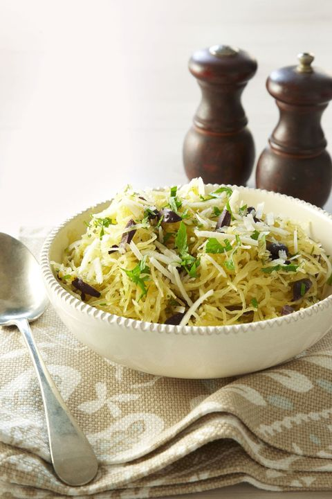 Spaghetti Squash with Olives and Pecorino