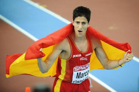 Spain's Luis Alberto Marco celebrates af