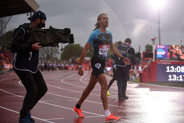 mohamed katir, tras ganar los 5000 metros de la liga de diamante de gateshead, gran bretaña