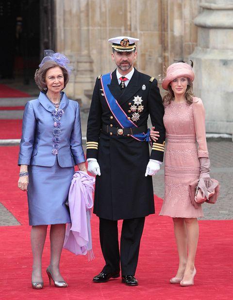 letizia vestido rosa boda kate middleton