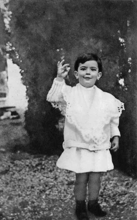 Spanish painter Salvador Dali (1904-1989) here as a child c. 1906