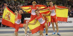El relevo español de 4x400m ganó la plata europea con récord nacional