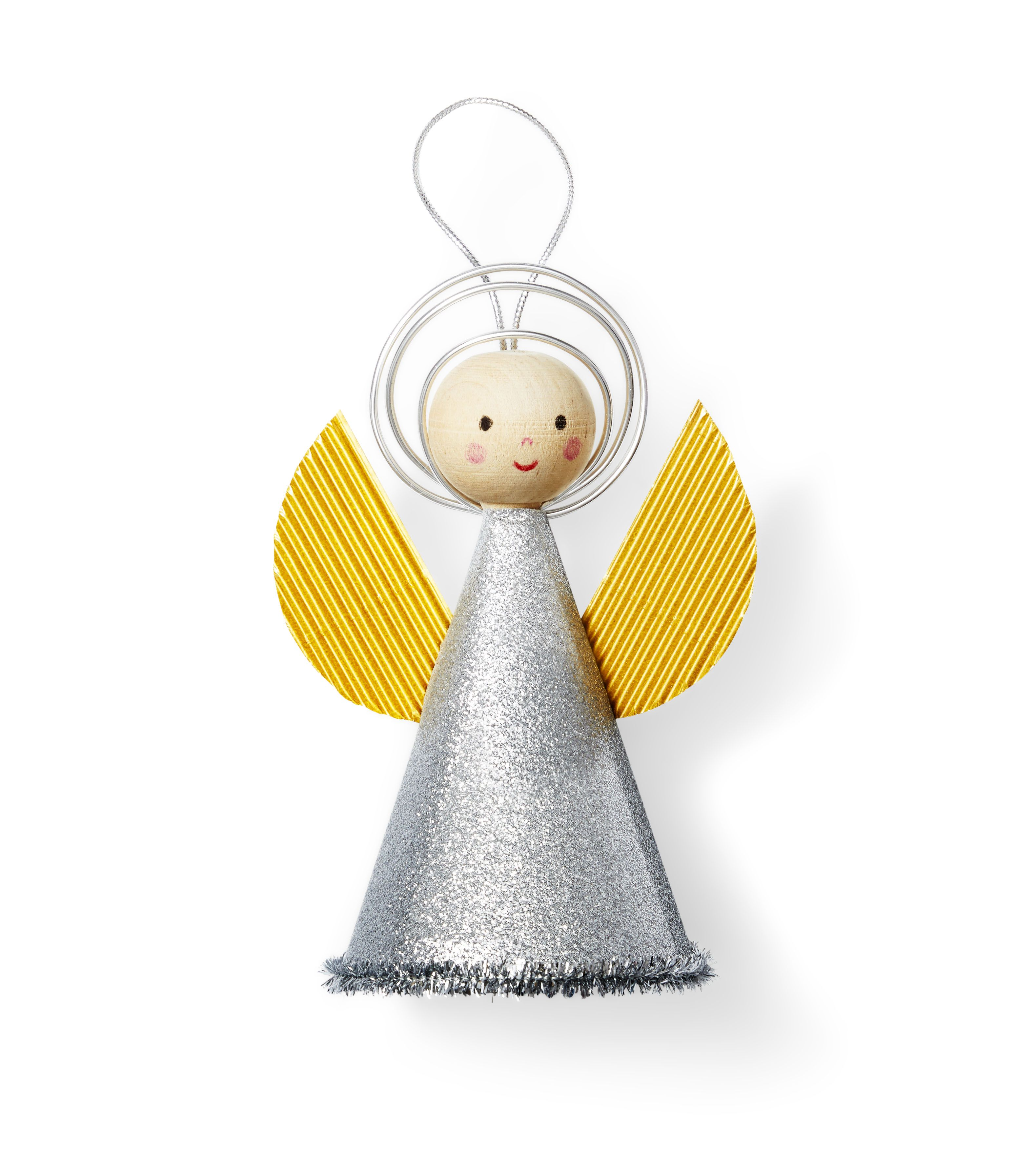 cute and quirky figures 2 pretty fairy angel wooden and metal decorations