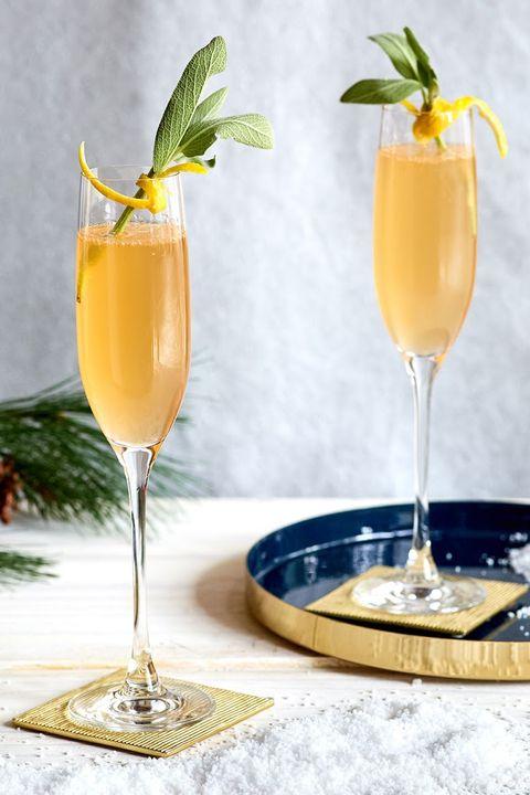 sparkling sage cocktail
