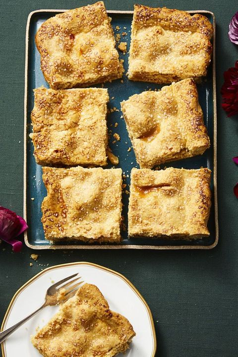 new years desserts - sparkly apple slab pie