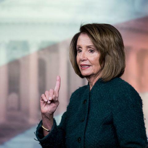 Speaker of the House Nancy Pelosi...