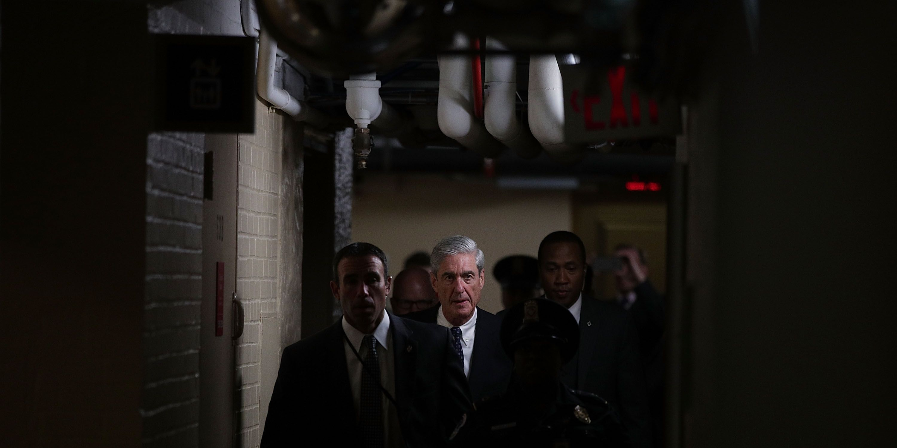 Special Prosecutor Robert Mueller Briefs Senate Intel Committee On Capitol Hill