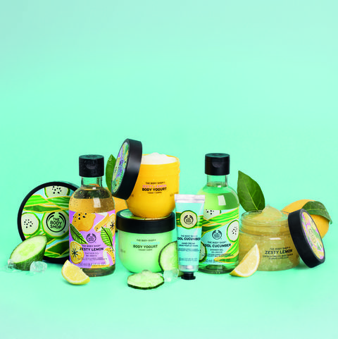 the body shop launches zesty summer range made from supermarket waste
