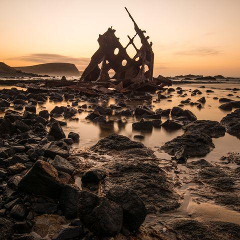 ss speke shipwreck phillip island australia sunset