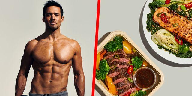 Skin, Shoulder, Food, Beef, Chest, Joint, Bodybuilder, Pork, Trunk, Ingredient,