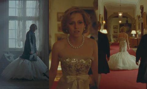 克莉絲汀史都華《史賓賽》前導預告釋出!「黛安娜王妃」華美細紗魚尾禮服暗示童話破滅的哀傷