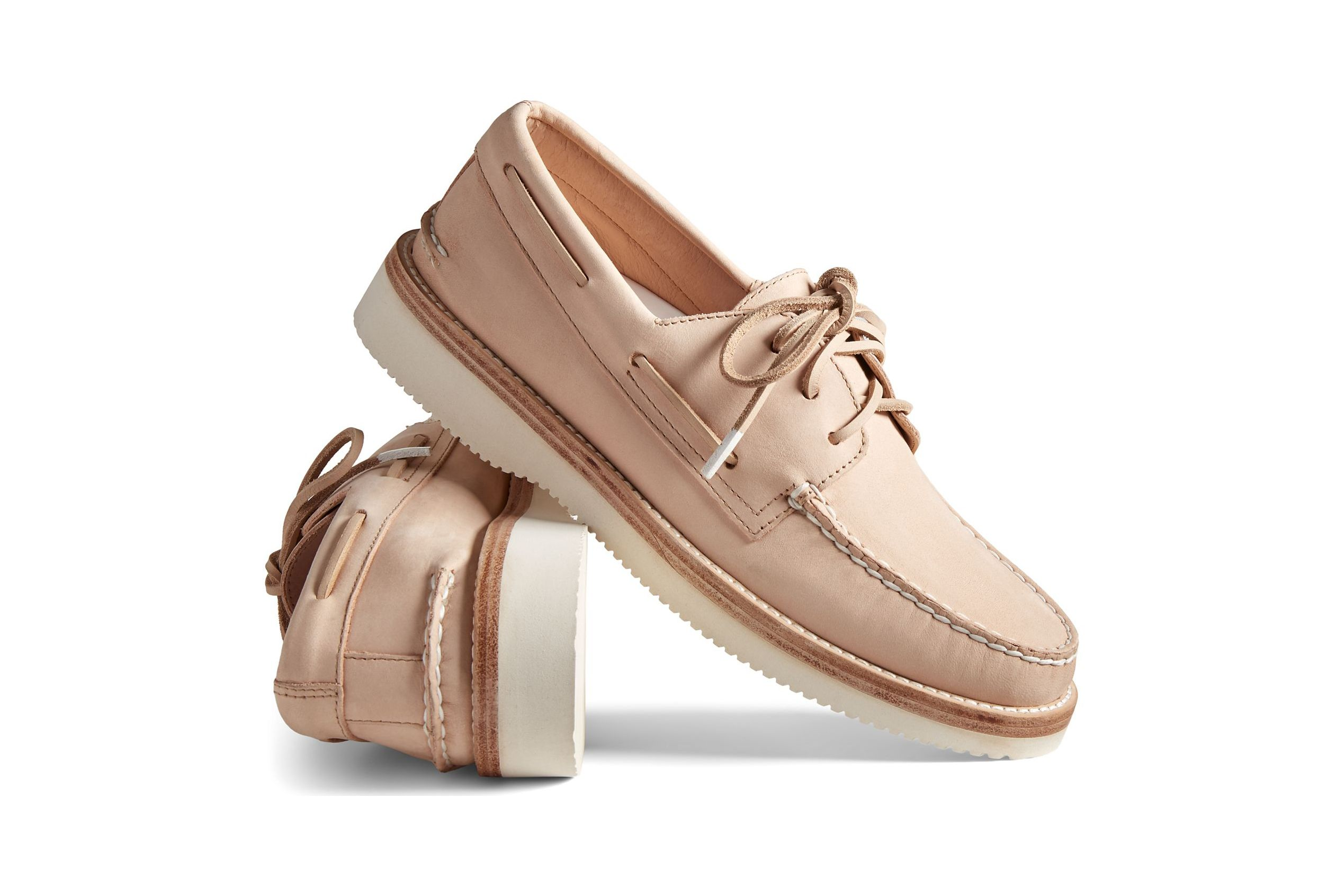 Premium Leather on a Pair of Sperrys