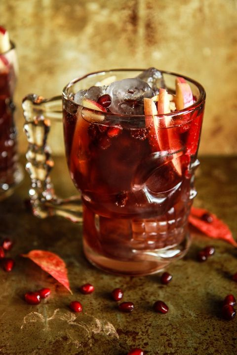 spiced apple cider pomegranate moscow mule