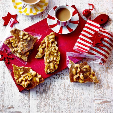 spiced cashew brittle