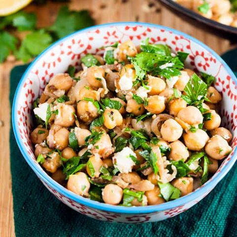 spiced chickpeas with preserved lemon
