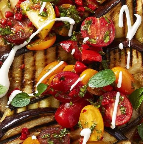 meatless recipe - vegetarian grilled eggplant recipe