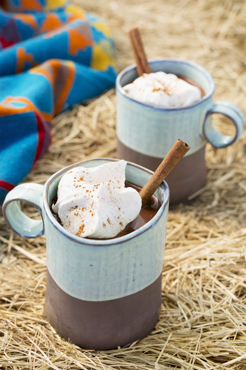 spiced mexican hot chocolate christmas cocktail