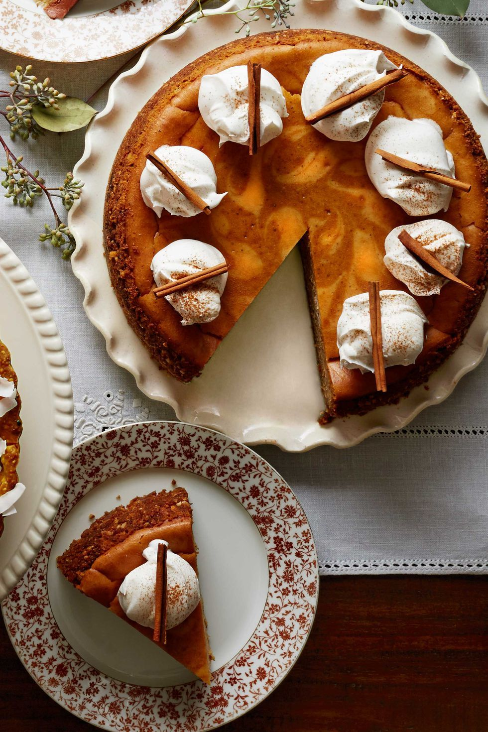 Spiced Pumpkin Latte Cheesecake Thanksgiving Dessert