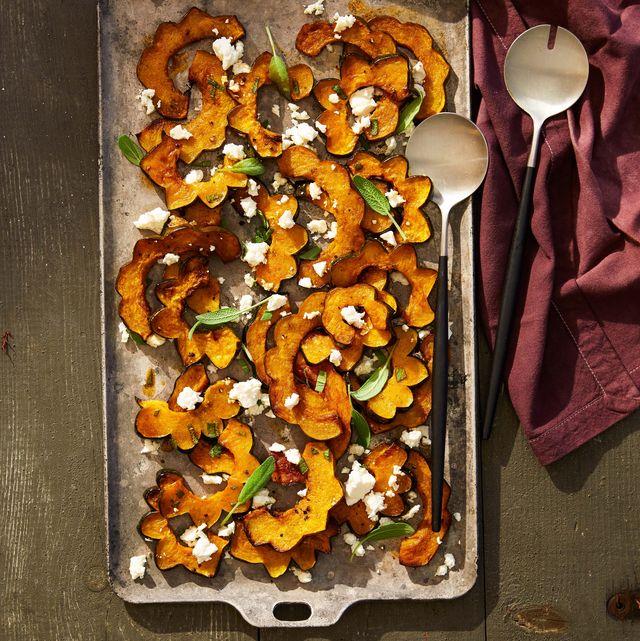 spicy acorn squash with feta