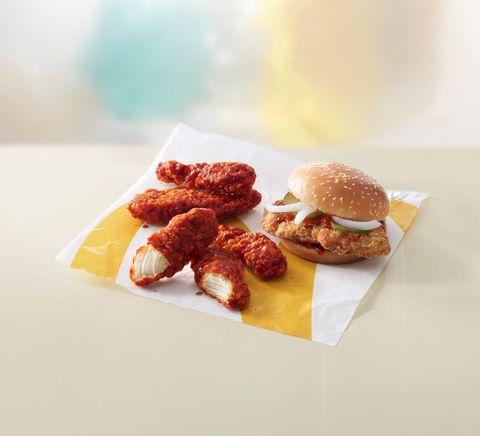 Dish, Food, Cuisine, Ingredient, Junk food, Breakfast sandwich, Fast food, Slider, Bacon sandwich, Finger food,