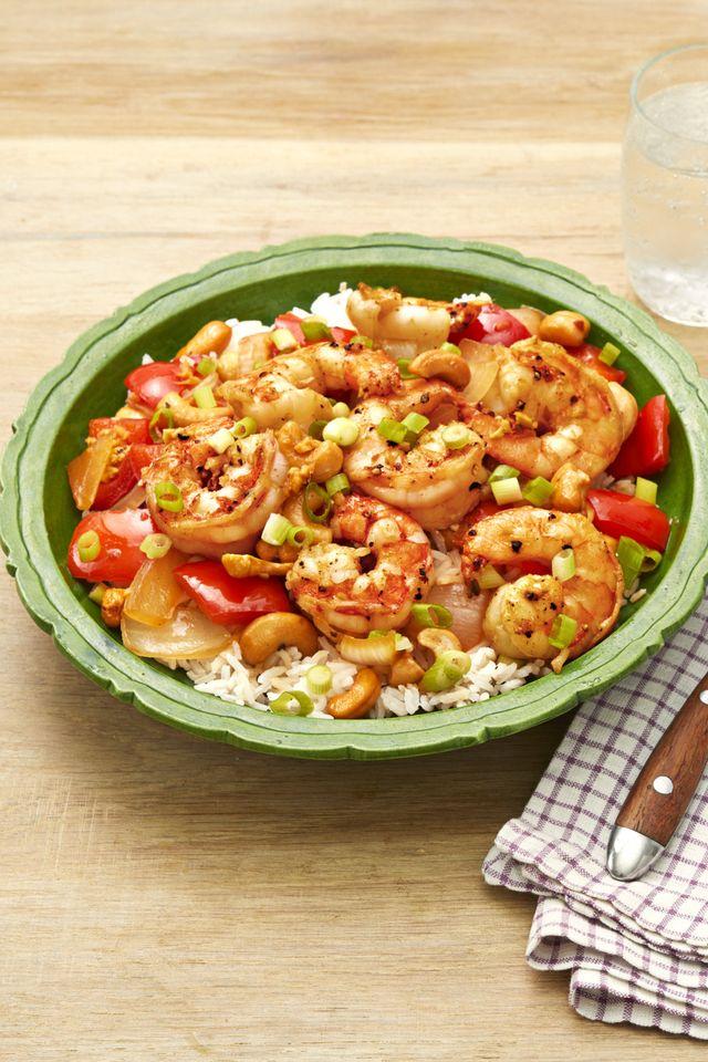 spicy cashew shrimp
