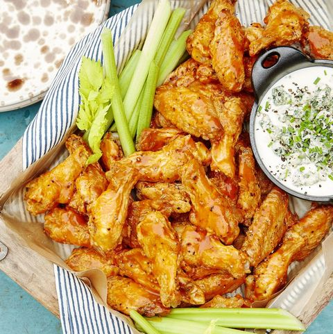 Spicy Oven-Baked Wings With Blue Cheese Dip