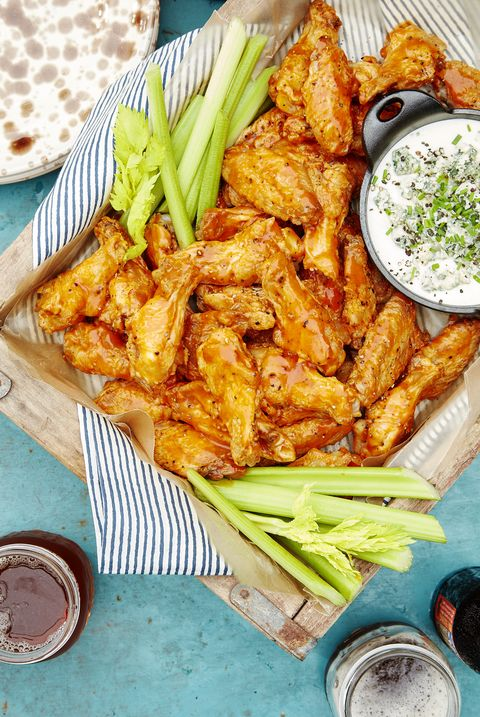spicy oven baked wings with blue cheese dip recipe