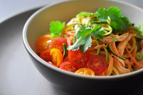 spicy thai zoodle salad