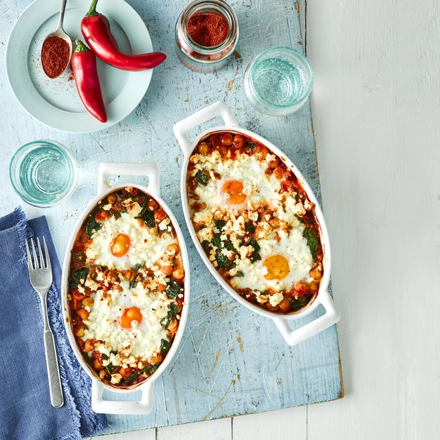 best feta recipes spicy tomato and feta baked eggs