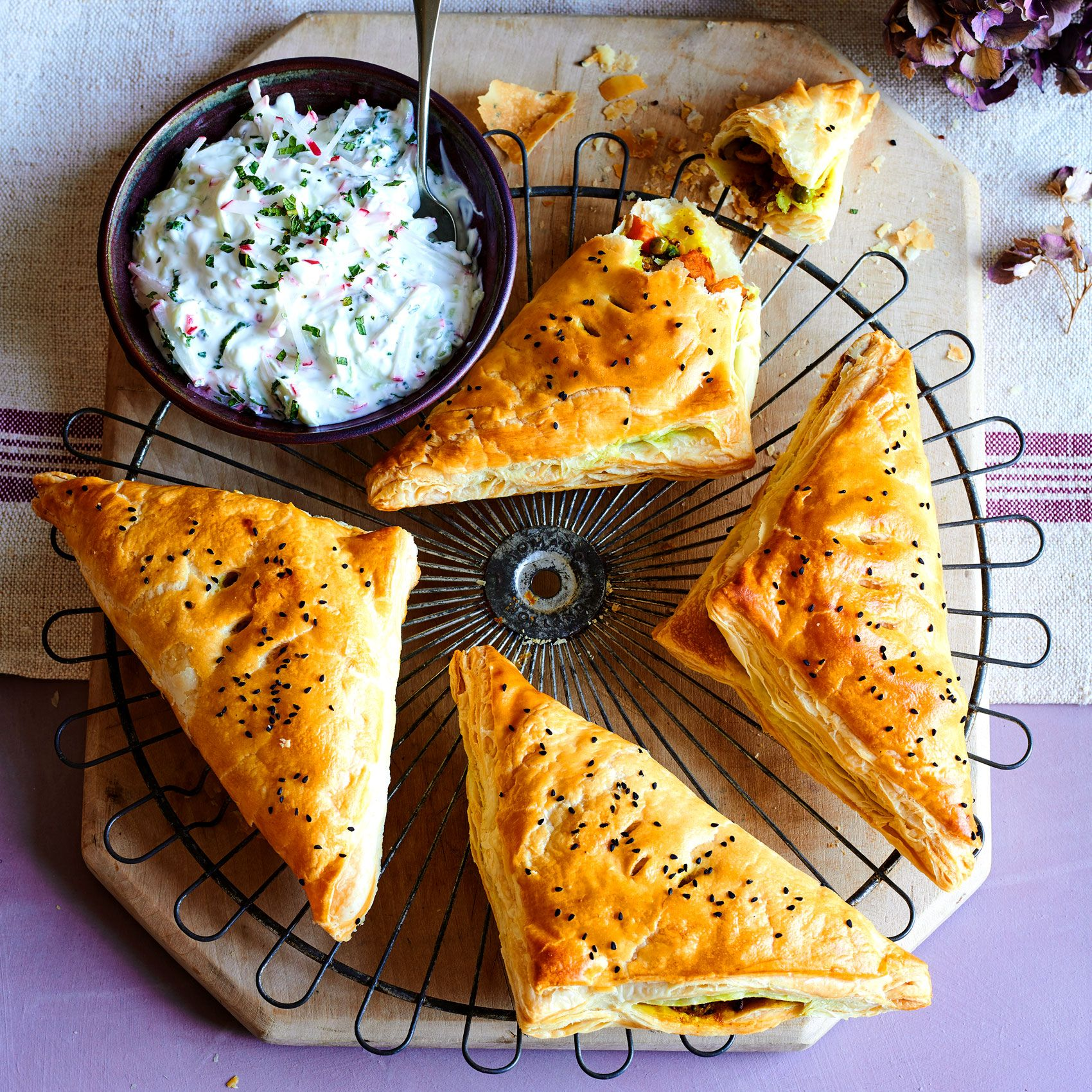 Spicy Vegetable Turnovers