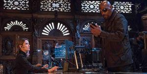 Samuel L Jackson y Cobie Smulders, en Spider-Man Lejos de Casa