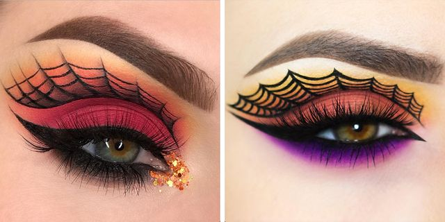 Spiderweb Eye Makeup Will Spook Everyone You Pass On Halloween
