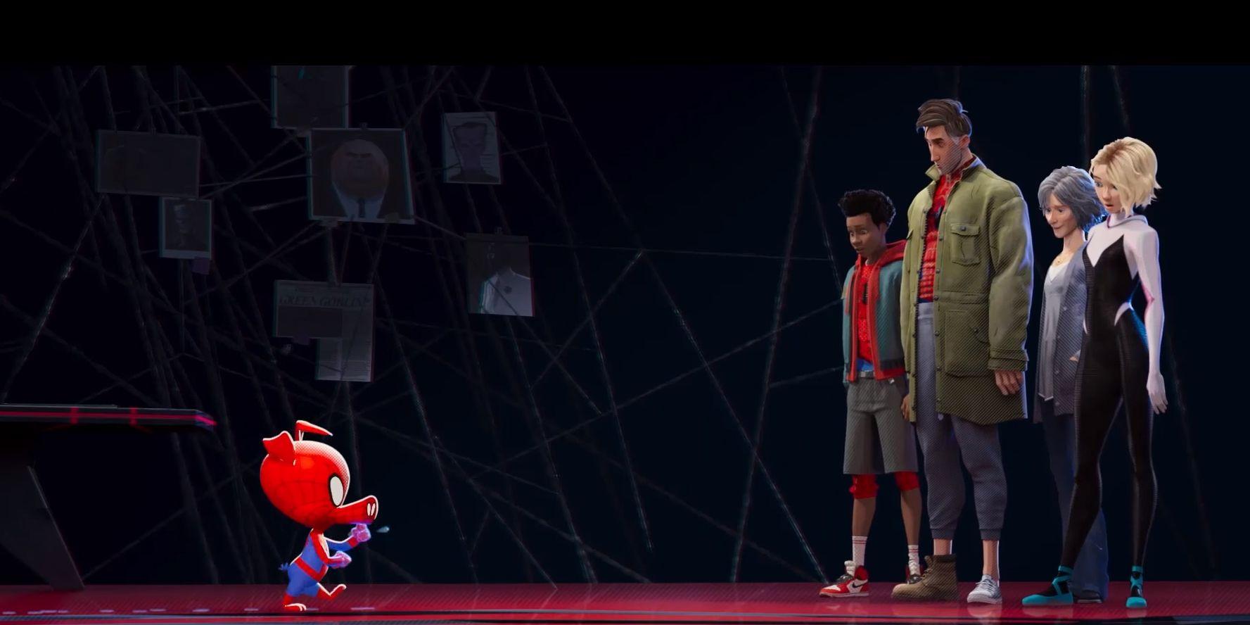 Spider-Man un nuevo universo equipo