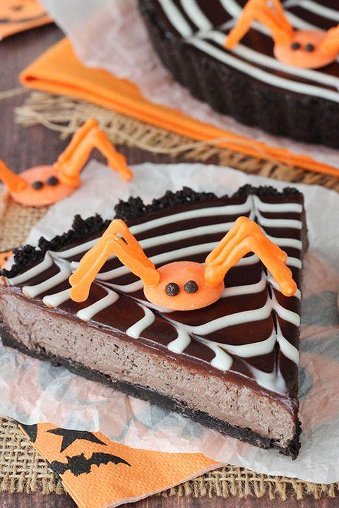 spiderweb chocolate tart