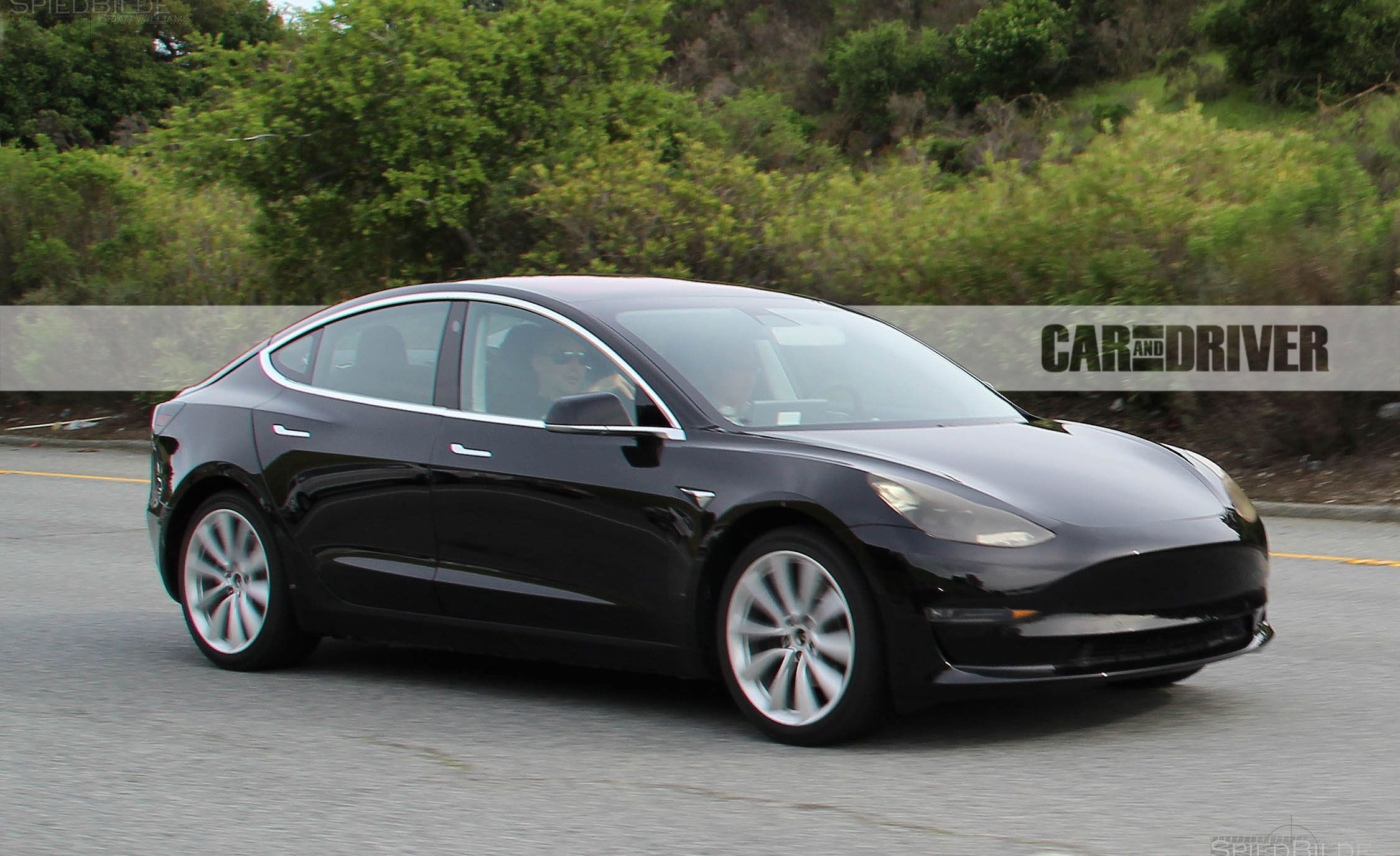 2017 Tesla Model 3 First Pics Of The Production Ready Version