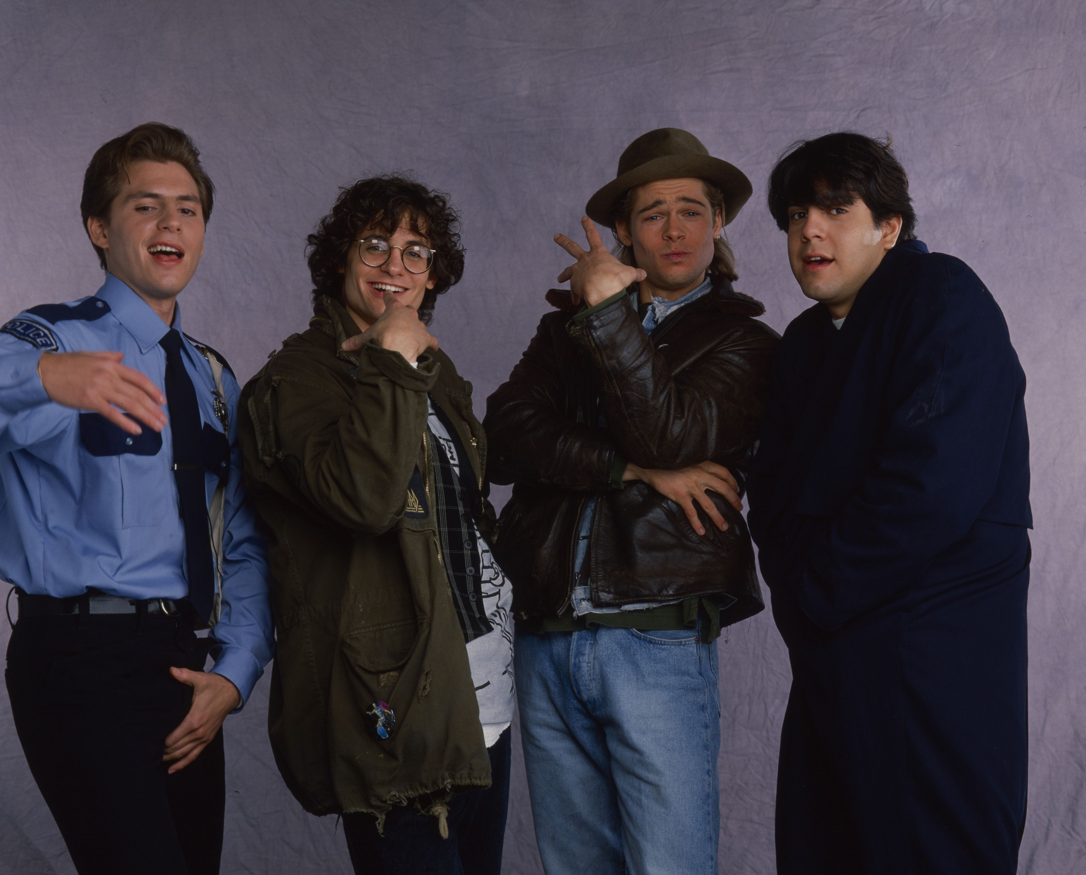 Spike Alexander, Claude Knobler, Brad Pitt, Evan Mirand Promotional Photo For 'The Kids Are All Right'
