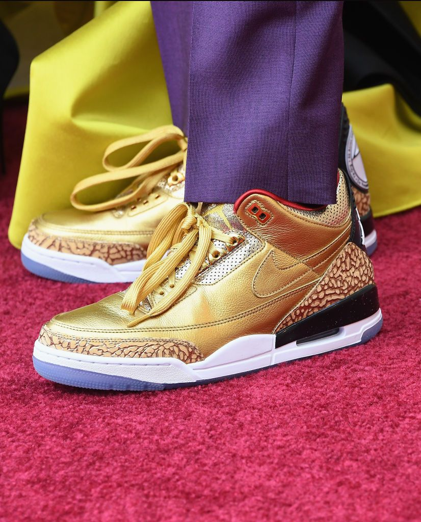 Spike Lee Gets Custom Gold Air Jordans for the 2019 Golden