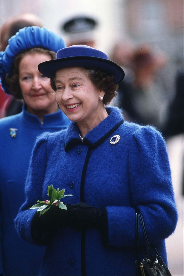 united kingdom   march 27  the queen on a walkabout outside chichester cathedral  photo by tim graham photo library via getty images
